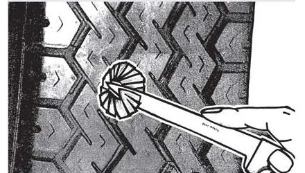 Ремонт повреждений ходовой поверхности радиальных шин Ferdus Шлифовальные шарики Шиноремонтный инструмент Шиноремонтные материалы Шиномонтажник Шиномонтаж Шероховальные машинки Технология ремонта Тальк шиномонтажный Сырая резина Ролики закаточные Публикации Пластыри кордовые Очиститель Ножи для шиномонтажа Мел для шиномонтажа Клей Вулканизационная жидкость Вулканизатор Восстановитель бескамерного слоя Ferdus