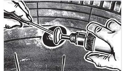 Ремонт повреждений боковой и угловой части радиальных шин Ferdus Шлифовальные шарики Шиноремонтный инструмент Шиноремонтные материалы Шиномонтажник Шиномонтаж Шероховальные машинки Технология ремонта Тальк шиномонтажный Сырая резина Ролики закаточные Публикации Пластыри кордовые Очиститель Ножи для шиномонтажа Мел для шиномонтажа Клей Вулканизационная жидкость Вулканизатор Восстановитель бескамерного слоя Ferdus