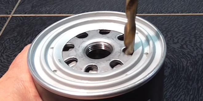 Мини-печка из масляного фильтра для туриста. Самоделки Публикации