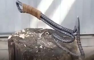 Как сделать самому топор из арматуры Топор Как сделать Дачник Дача Video